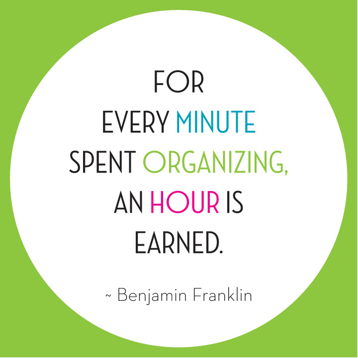 For every hour organizing earns a minute's time