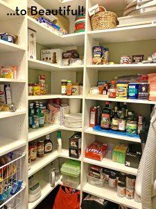 unpacked organized pantry