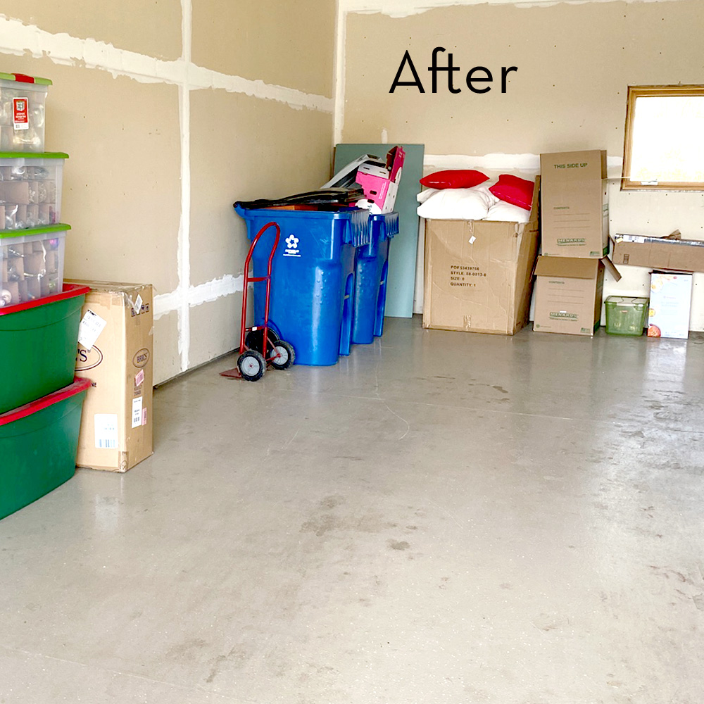 donate and discard garage cleanout organized move