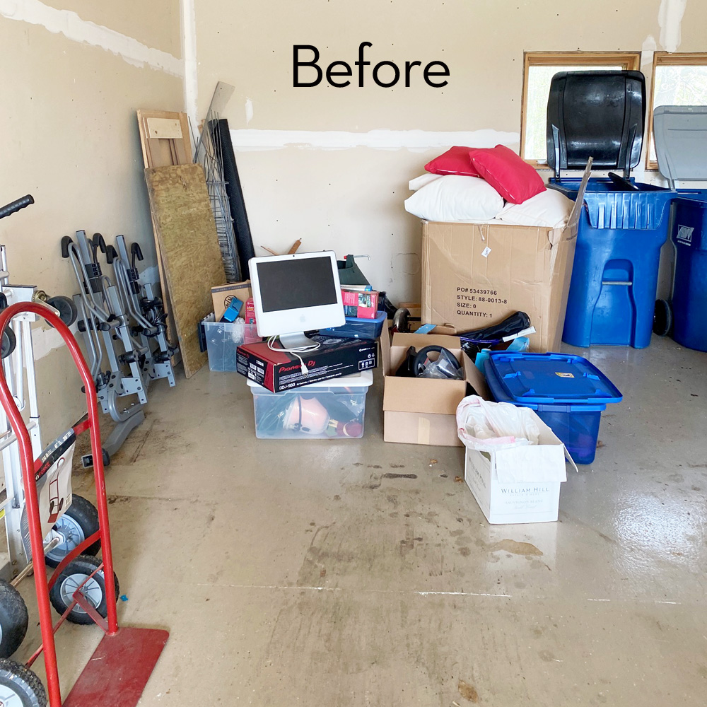 donate and discard garage cleanout
